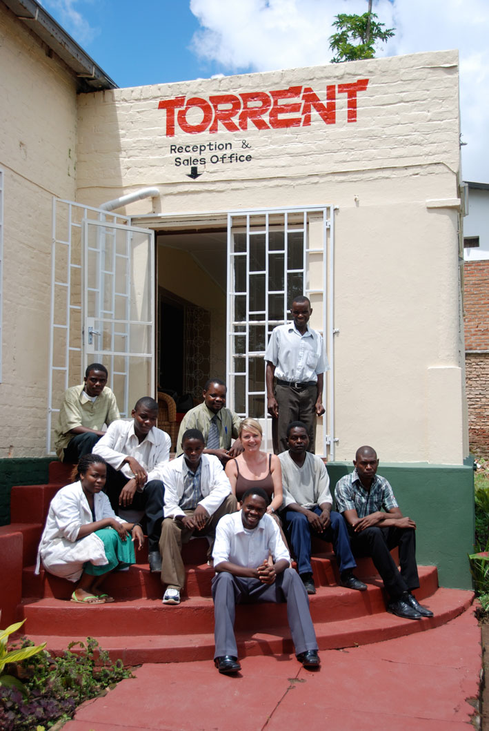 The old Torrent building with Torrent team