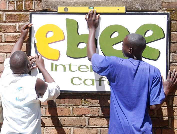 One of the first enterprises, Ebee internet cafe