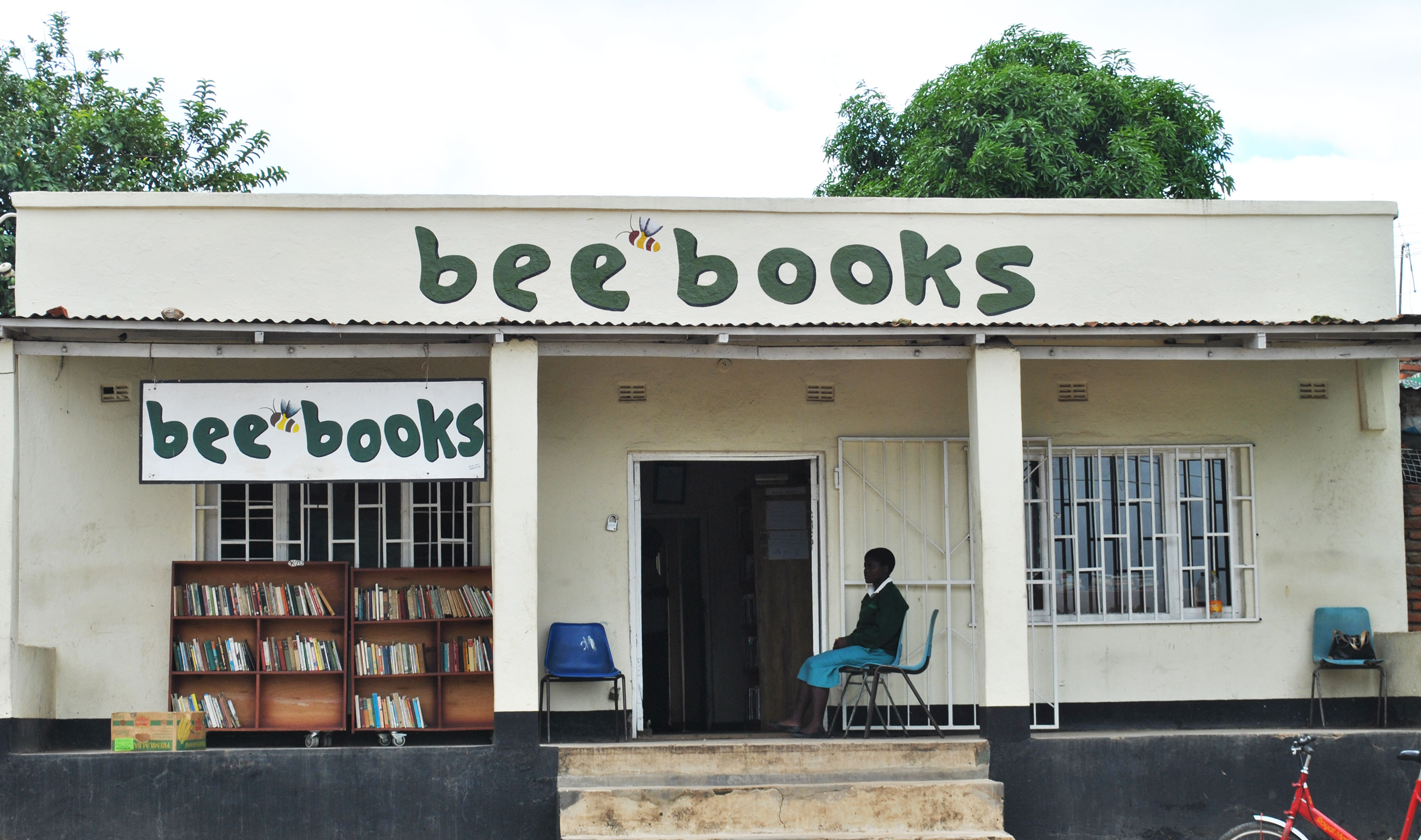 2013 Beebooks, full of books donated from the UK