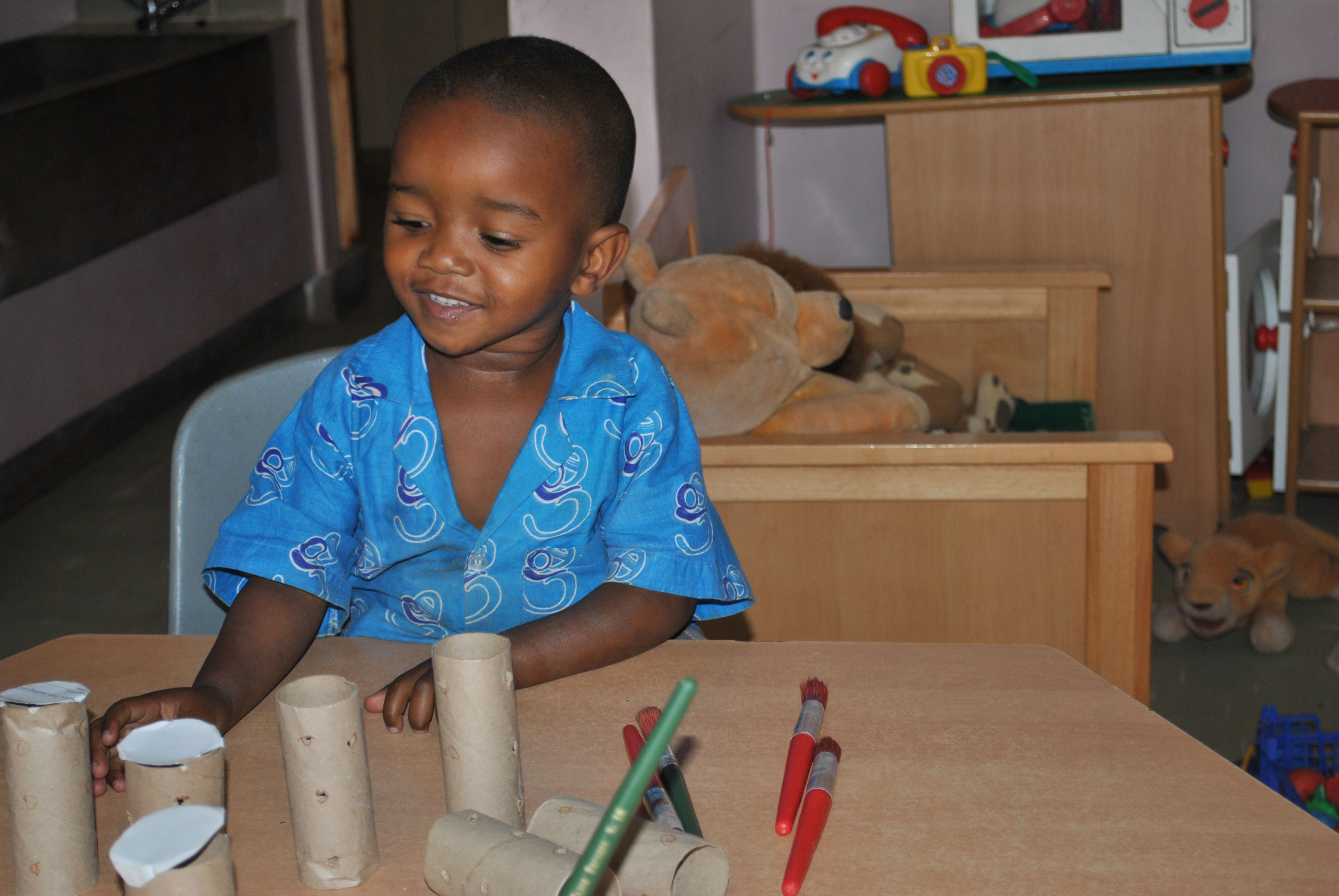 Pre-school room, building skills