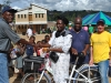 Presenting a bike to the local Chief