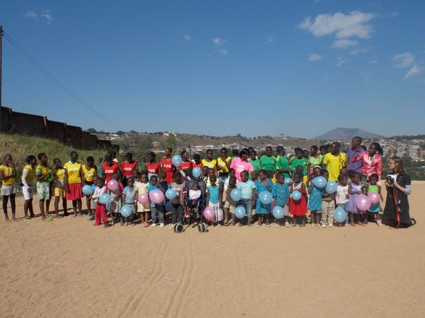 Of course, the little ones from the children's centre are involved too!