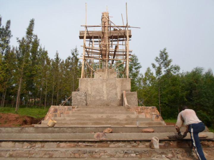 The Cross under construction
